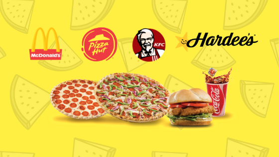 Mcdonalds kfc pizza hut hardees